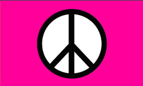 Peace-Pink Standard Flag