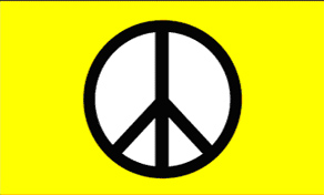 Peace-Yellow Standard Flag